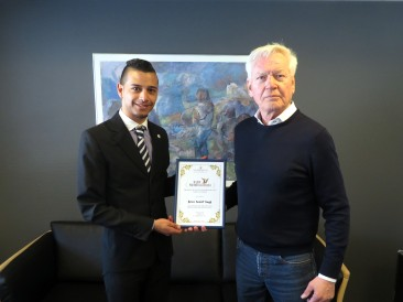 10.04.2018: Premiazione del Direttore del Mittarfeqarfiit Kangerlussuaq, Peter Høgh