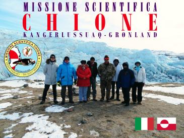 Foto di gruppo dei componenti della Missione Scientifica Chione