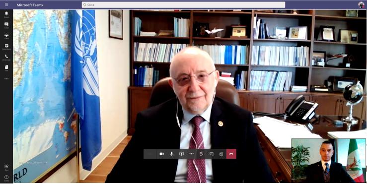 Locandina webinar con ICAO